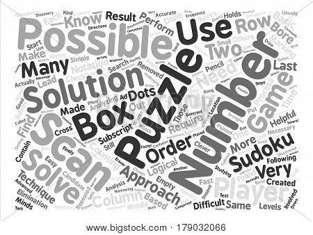 sudoku solutions text background word cloud concept