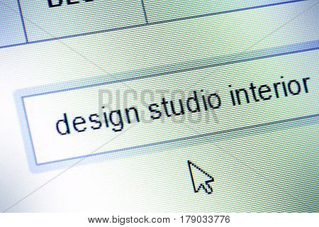 Detail of computer monitor during design image search.