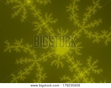 Yellow Fractal Background