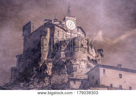 Photo of dark haunted castle in Lazio, Italy