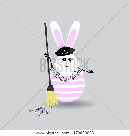 Easter Cartoon Illustration