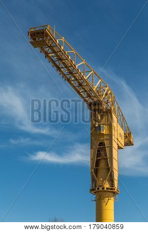 Gigantic yellow crane titan national heritage site in Nantes (France) poster