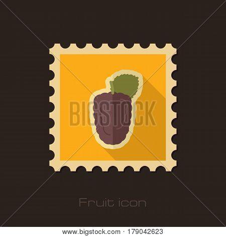 Blackberry bramble flat stamp. Berry fruit vector illustration eps 10