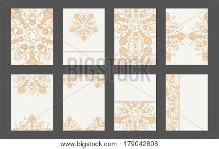 Mandala Card Template Set