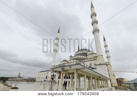 Kocatepe Mosque in Ankara, the capital city of Turkey