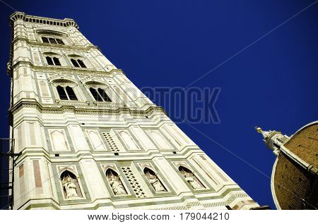 Florence, Santa Maria in Fiore and Giotto's bell tower, perspective view