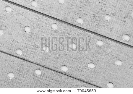 Steel Perforated Metallic Background