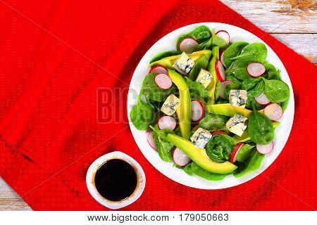 Healthy Diet Salad On White Platter