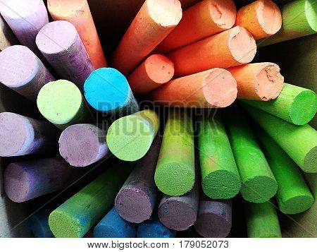 detail many chalk lod colorful for background
