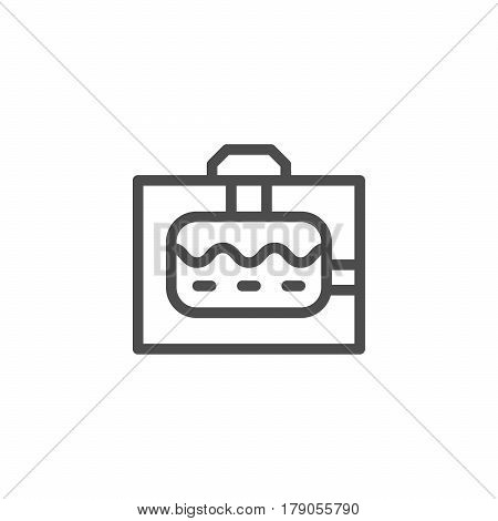 Sewerage tank line icon isolated on white. Vector illustration