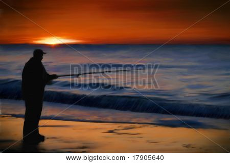 Sunrise Ocean Fishing