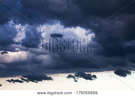 abstract background from the sky and dark storm clouds. thunderstorm cloudscape rain weather