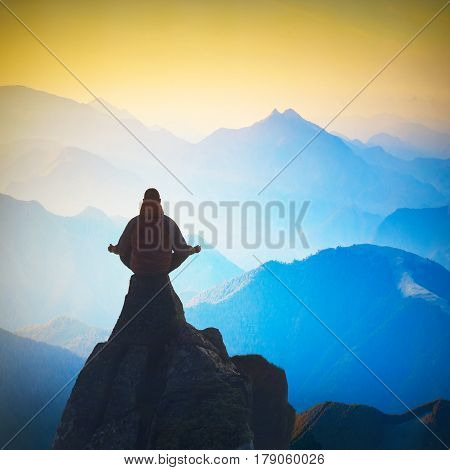 Meditation In A High Peaks Valley