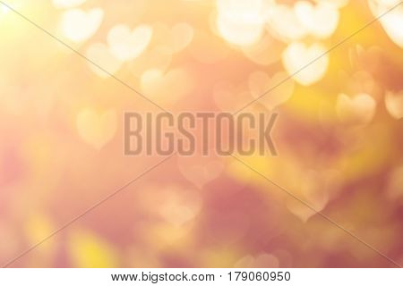 Blurred background of Valentine's day concept. Valentines Day Card. Pastel color tones.multicolored white hearts wall.