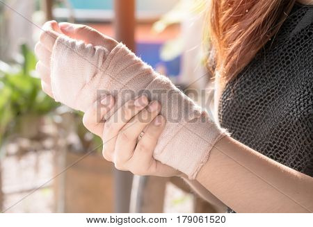 Arm splint mild injuries from accidents,healthty concept