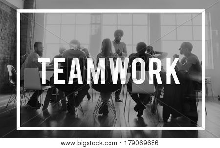 Business Diversity Teamwork Brainstorm Word
