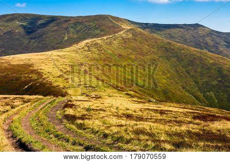 Road Through The Mountain Ridge