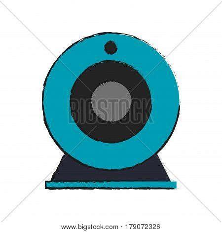 web cam icon over white background. colorful design. vector illustration