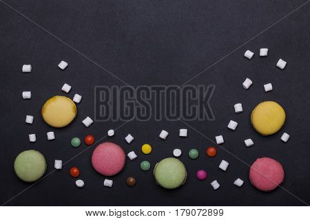 Colorful Macaron, Dragee Sweets, Marshmallow, Zephyr