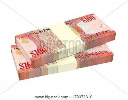 Cayman Islands money isolated on white background  3D illustration.