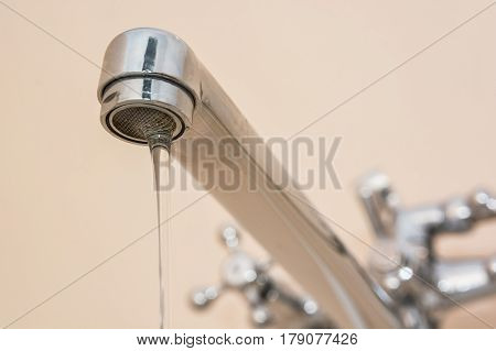 Problem with kitchen faucet caused water leak