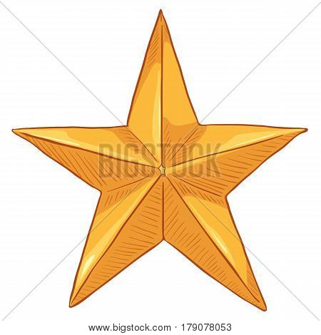 Vector Cartoon Gold Star