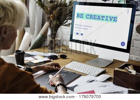 Web Content Layout Develop Creative Word