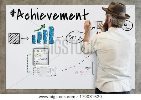 Achievement Strategy Business Discussion Idea