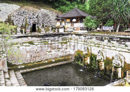 The Temple Of Goa Gajah Near Ubud