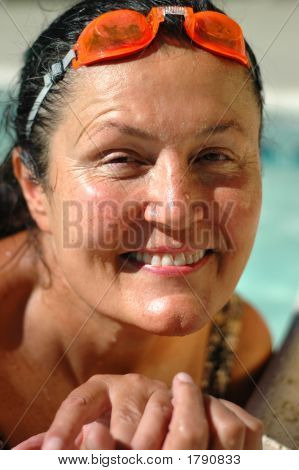 Senior In The Pool