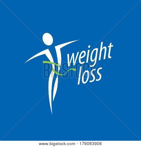 pattern design logo weight loss. Vector illustration