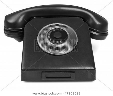 Old Bakelite Telephone With Spining Dial