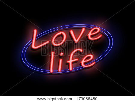 Love Life Sign.