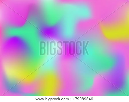 Vector bright holographic abstract background.Blur colorful pattern. Wallpaper in hipster style