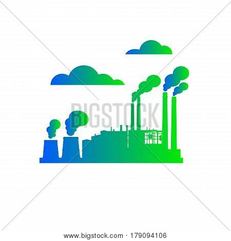 plant, vector, icon, factory, illustration, design, building, industrial, set, industry