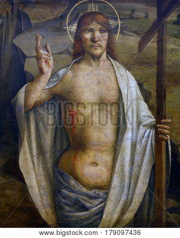 ZAGREB, CROATIA - DECEMBER 12: Lorenzo D'Alessandro: Risen Christ, December 12, 2011. in Zagreb, Croatia