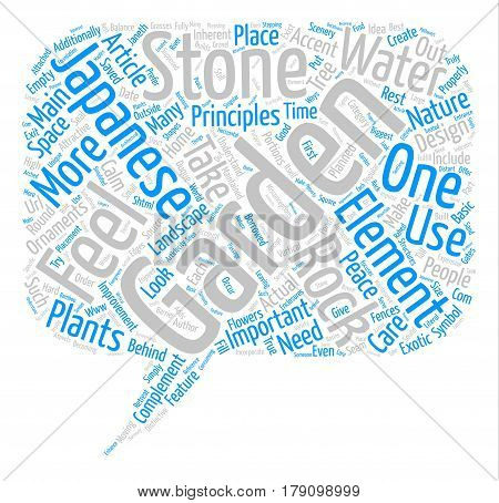 The Principles Behind Japanese Gardens text background word cloud concept