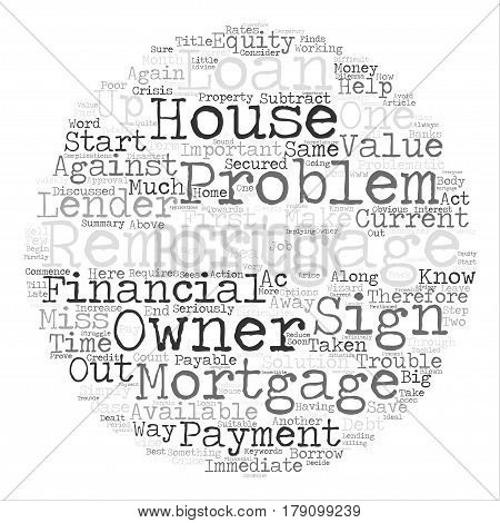 The Problem Remortgage Word Cloud Concept Text Background