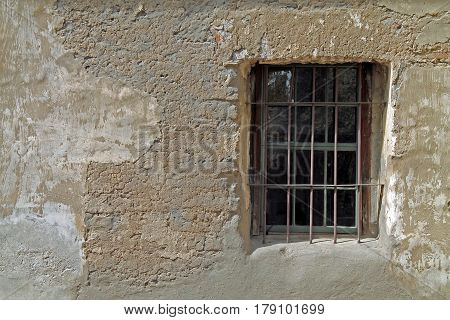 Window in an Adobe Building in a Southern California Spanish Mission