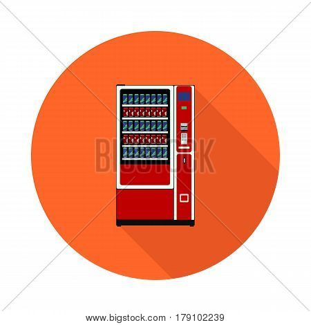 flat icon is a drinks vending machine in vector format