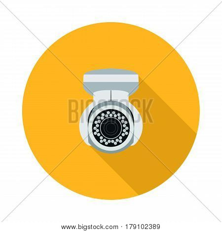 flat icon video surveillance in vector format