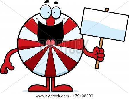 Cartoon Peppermint Sign