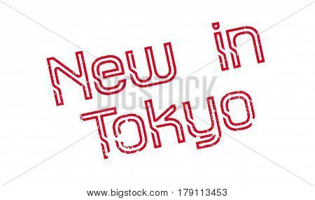 New In Tokyo rubber stamp. Grunge design with dust scratches. Effects can be easily removed for a clean, crisp look. Color is easily changed.