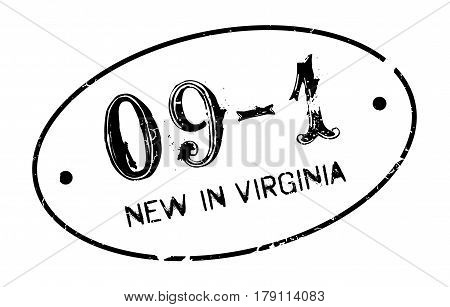 New In Virginia rubber stamp. Grunge design with dust scratches. Effects can be easily removed for a clean, crisp look. Color is easily changed.