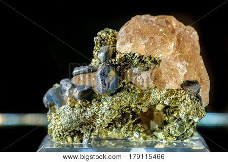 fluorite with galena mineral gemstone gemstone precious rock mining