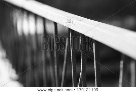 Diagonal black and white banister blurred background hd