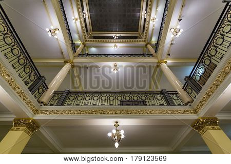 Interior Of The Metropol Hotel Moscow, Russia
