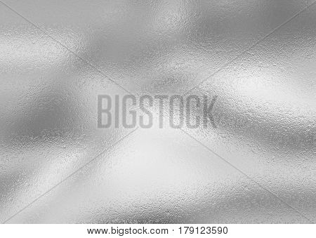 Silver metal foil decorative texture for background