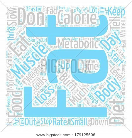 Things You Must Know About Fat Loss text background word cloud concept