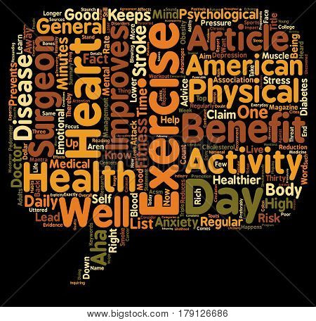 Thirty Minutes of Exercise a Day Keeps the Doctor Away text background wordcloud concept